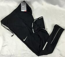NIKE Men's Dri-Fit Athletic Running Gym Tight Fit Pants Black 717408 Size L