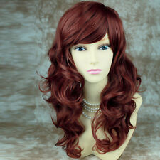 Stunning Copper Red Curly skin top Wavy Hair Long Ladies Wigs from WIWIGS UK
