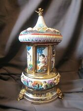 Italian Capodimonte Porcelian Cigarette/Lipstick Holder Music Box