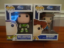 Funko Pop Vinyl Disney Buzz Lightyear & Woody Figures 02 / 03 Originals RARE BN