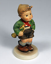old M J Hummel Figurine Trumpet Boy w/Horn West Germany old chip school boy VINT