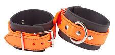 Bondage Ankle Cuffs, Rubber Bio-than Orange BDSM Gear Ankle Restraints