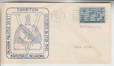 1945 #935 US NAVY WWII 2ND DAY OF ISSUE ON BARTLESVILLE OK STAMP EXPO COVER
