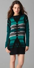 L.A.M.B. Gwen Stefani Intarsia Tunic Sweater Dress Teal XS