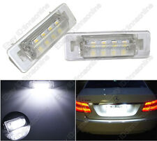 2pcs Super White LED License Plate Lights For Benz E-Class W210 Sedan Error Free