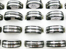 10pcs Mix Silver Black Stainless Steel Fashion Mens Rings Wholesale Lots J143