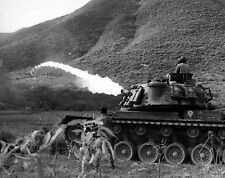 U.S. Marine Corps Flamethrower Marines Tank near Da Nang, Vietnam War Photo