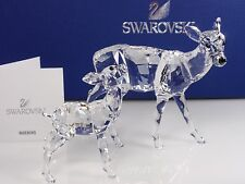 SWAROVSKI DOE & FAWN, CLEAR RETIRED 2012 MIB #5001052