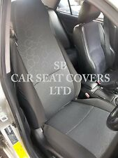 TO FIT A TOYOTA STARLET CAR, SEAT COVERS, HEXAGONAL GREY - 2 FRONTS