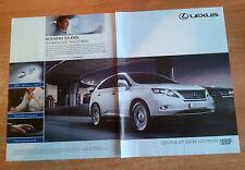 Publicité Advertising LEXUS RX 450h  ( double page )