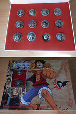 ONE PIECE  MUGIWARA PIRATES PIN FLAG PACK  SHANKS ACE  METALLIC NEW