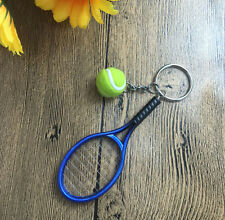1x  Two-piece fashion bags Tennis keychain car key chain for gift,blue!