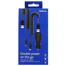 Genuine Nokia DC-20 Dual Output in Car Charger for Lumia Nexus Samsung Phones