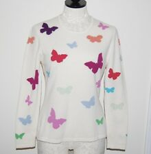 Richard Grand Paris Italy 100% Cashmere Butterfly Crewneck Sweater S
