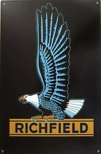 Richfield Eagle Logo  Advertising Metal Sign