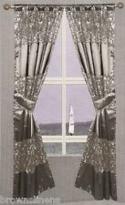 Popular Bath Sinatra Window Curtain, Black
