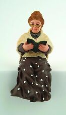 "1/12TH  DOLLS HOUSE ""GRANNY""  READING A BOOK RESIN FIGURE"