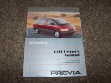 1991 Toyota Previa Factory Owner Owner's User Guide Manual RARE ORIGINAL