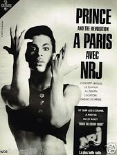 Publicité advertising 1986 Concert Prince à Paris