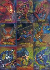 SPIDER-MAN 1995 FLEER ULTRA MASTERPIECES INSERT CARD SET 1 TO 9 OF 9 MARVEL MA