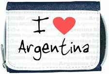 I Love Heart Argentina Denim Wallet