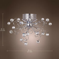 Modern 9 Light Crystal Chandelier Ceiling Pendant Lamp Flush Mount Lighting