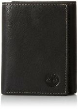 Timberland Men's Genuine Leather BLIX SLIM TRIFOLD Wallet Black D10241-08