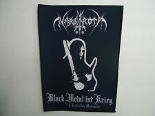 NARGAROTH BLACK METAL IST KRIEG SUBLIMATED BACK PATCH