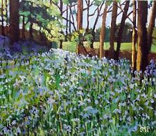 Original Impressionist Painting by Melanie Reynoso : The Bluebell Forest Floor