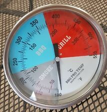 "6""  BBQ CHARCOAL GAS ELECTRIC GRILL SMOKER PIT OVEN THERMOMETER GAUGE BPT GBR2.5"