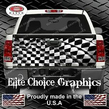 Racing Checkered Flag Truck Tailgate Wrap Vinyl Graphic Decal Sticker Wrap