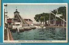 #GG.  CANADA FAIRGROUND POSTCARD - MONTREAL, THE CHUTES, DOMINION PARK