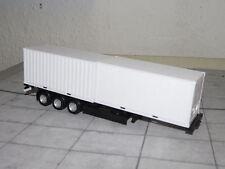 Herpa 076494 - Containerauflieger - schwarz - 2 verschiedene 40-Fuß-Container