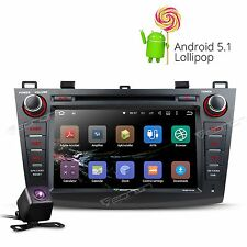 """CAM+ Eonon Android 5.1 8"""" Car Stereo DVD Player Bluetooth GPS Mazda3 2010-2013 I"""