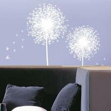 Removable WHITE DANDELION FLOWER WALL DECALS Art Mural Wall Stickers Home Decor