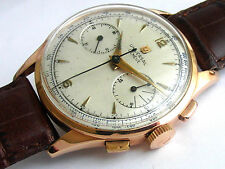 UNIVERSAL GENEVE 18K PINK GOLD OVERSIZE 38MM MOVEMENT U.G. CAL 285 CHRONOGRAPH