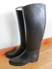 Cottage Craft Styled In Paris Made In Israel Black Tall Rubber Riding Boot 39