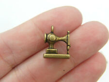 6 Sewing machine charms antique bronze tone BC137