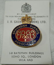 VINTAGE GRENADIER GUARDS ASSOCIATION PIN BADGE By JR GAUNT ON ORIGINAL CARD MINT