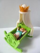 Playmobil Baby & Mecedora Cuna Nuevo Palacio/victoriana Dollshouse Muebles Y Figura