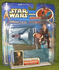 STAR WARS SAGA CARDED AOTC ATTACK THE CLONES ANAKIN SKYWALKER FORCE FLIPPING ATT