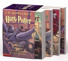 Harry Potter Set:The First Four Thrilling Adventures At Hogwarts-JK Rowling New