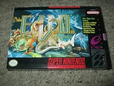 E.V.O.: The Search for Eden (Super Nintendo SNES, 1993) Complete NEAR MINT Evo