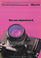 Nikon Color Camera Ads F3, FM, FE: 1981 Original Advertisements, Lot of 3