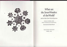 WHAT ARE THE SEVEN WONDERS OF THE WORLD ? - D'EPIRO  Folio Society   ah