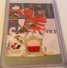 2015 UPPER DECK TEAM CANADA WOMEN LAURIANE ROUGEAU 2 COLOR JERSEY 152
