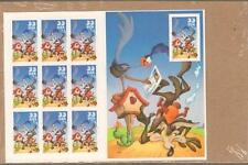 10 Pane Coyote Road Runner 33c Stamps Self Adhesive Sheet Mint Condition Sealed