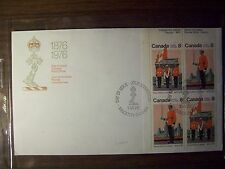 ROYAL MILITARY COLLEGE CANADA FDC 1976 CORNER BLK OF 4 8c ISSUE