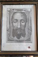 ORIGINAL, FRAMED HOLY FACE - VEIL OF VERONICA RELIC with VATICAN SEAL