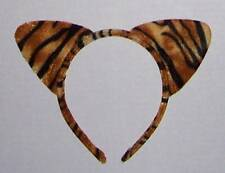 STRIPED TIGER CAT EARS HEADBAND Orange black Children Adults Halloween costume